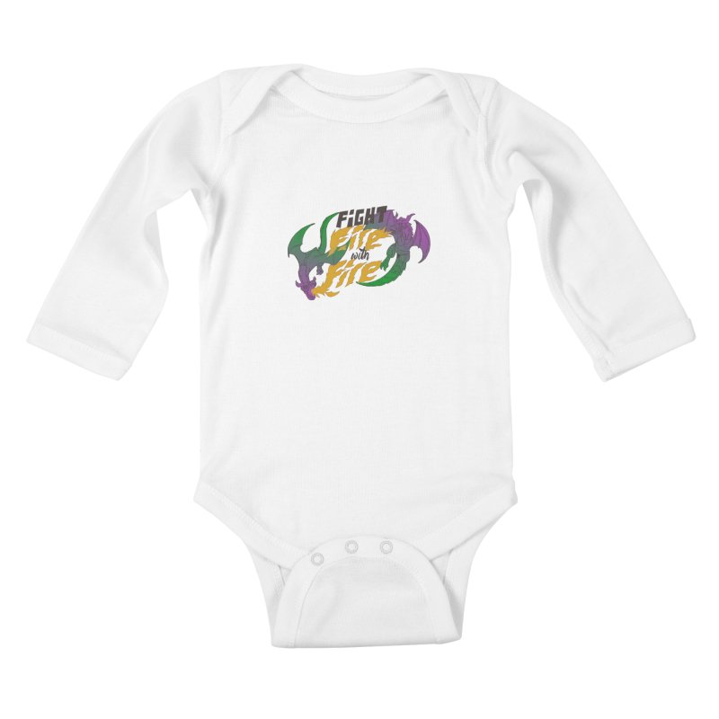 fight fire with fire Kids Baby Longsleeve Bodysuit by frikkinmunki's Artist Shop