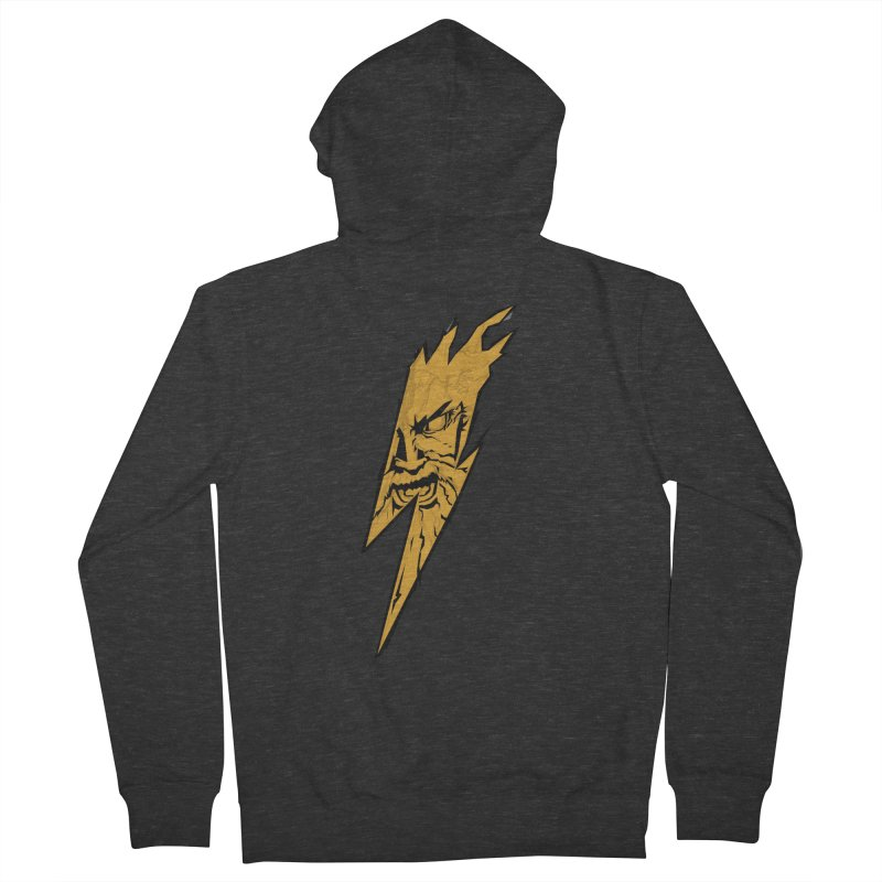 wrath thunder! Men's Zip-Up Hoody by frikkinmunki's Artist Shop