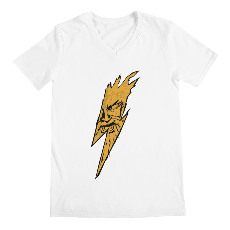 wrath thunder! Men's V-Neck by frikkinmunki's Artist Shop
