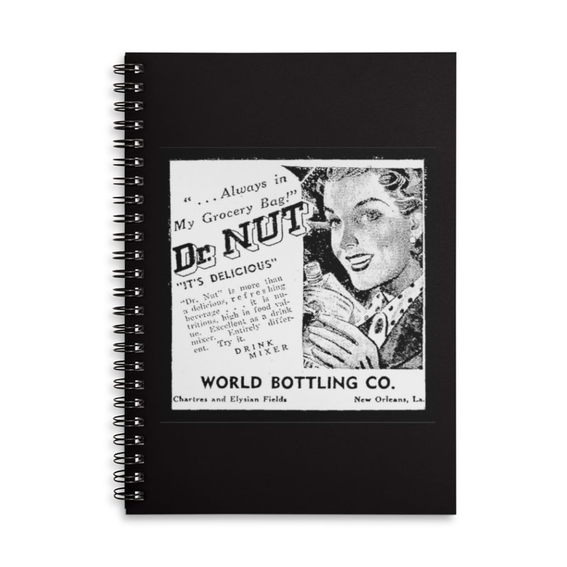 Dr Nut Ad World Bottling Company in New Orleans Accessories Lined Spiral Notebook by Fringe Walkers Shirts n Prints