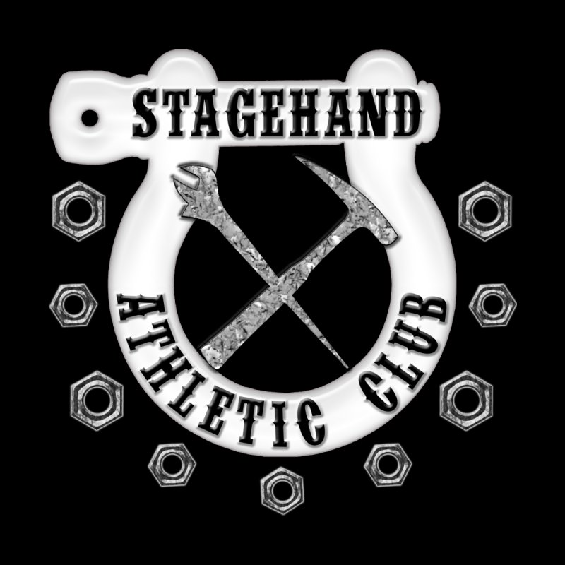 Stagehand Athletic Club Staging Theater tools Crescent Spud Wrench Hammer Nuts Shackle Load in out by Fringe Walkers Shirts n Prints
