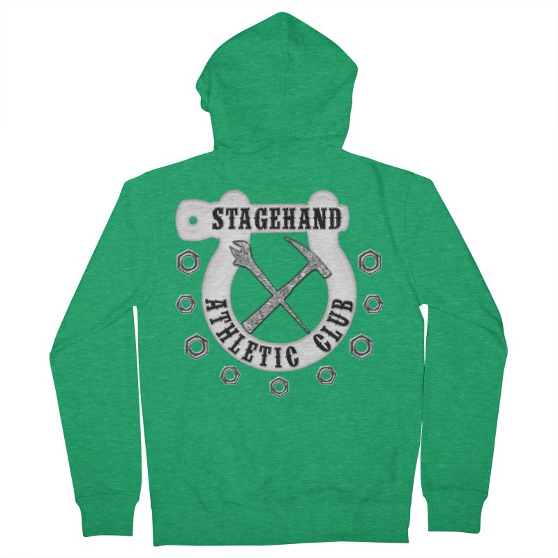 Stagehand Athletic Club Staging Theater tools Crescent Spud Wrench Hammer Nuts Shackle Load in out Women's Zip-Up Hoody by Fringe Walkers Shirts n Prints