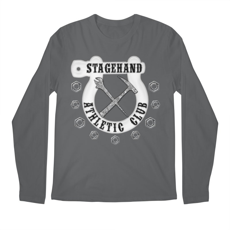 Stagehand Athletic Club Staging Theater tools Crescent Spud Wrench Hammer Nuts Shackle Load in out Men's Regular Longsleeve T-Shirt by Fringe Walkers Shirts n Prints