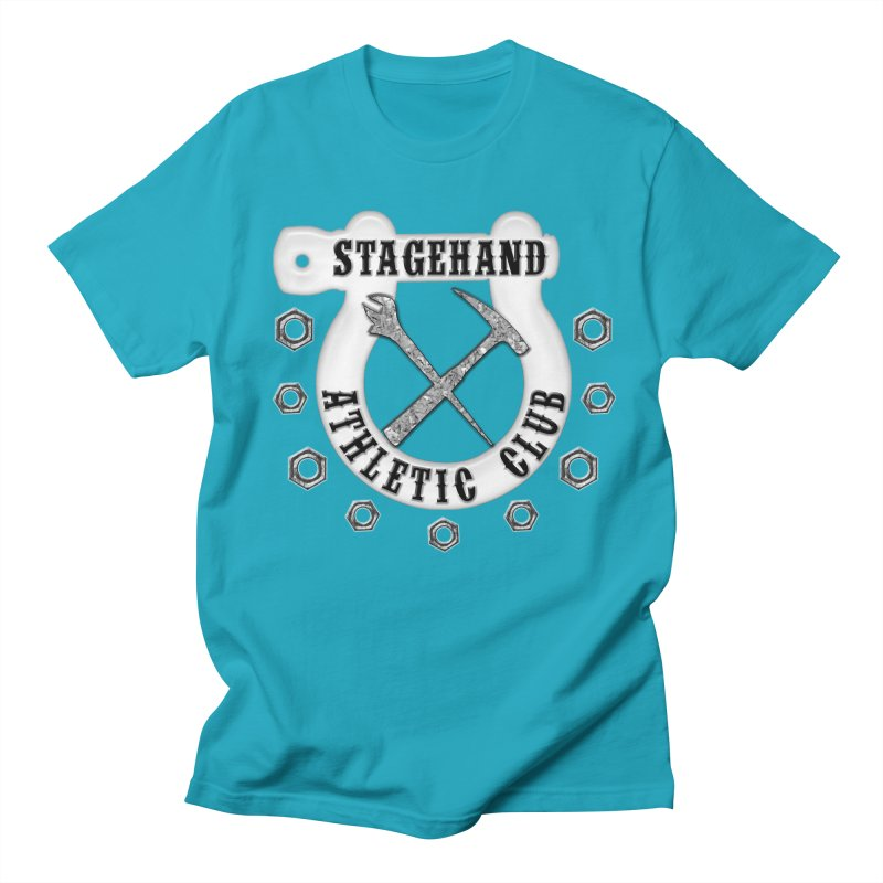 Stagehand Athletic Club Staging Theater tools Crescent Spud Wrench Hammer Nuts Shackle Load in out Men's Regular T-Shirt by Fringe Walkers Shirts n Prints