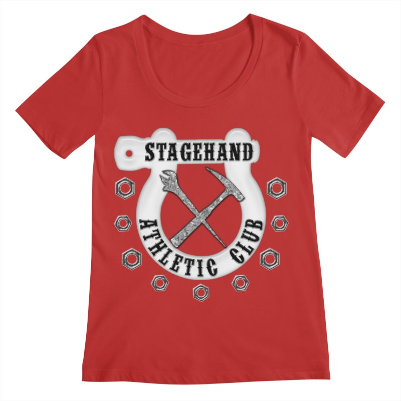 Stagehand Athletic Club Staging Theater tools Crescent Spud Wrench Hammer Nuts Shackle Load in out Women's Regular Scoop Neck by Fringe Walkers Shirts n Prints