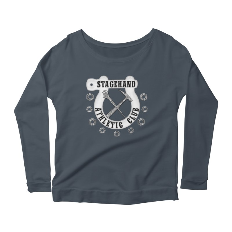 Stagehand Athletic Club Staging Theater tools Crescent Spud Wrench Hammer Nuts Shackle Load in out Women's Longsleeve T-Shirt by Fringe Walkers Shirts n Prints