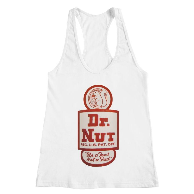 Dr. Nut Soda New Orleans Squirrel Confederacy of Dunces World Bottling Company Vintage Soda Shirt Women's Racerback Tank by Fringe Walkers Shirts n Prints