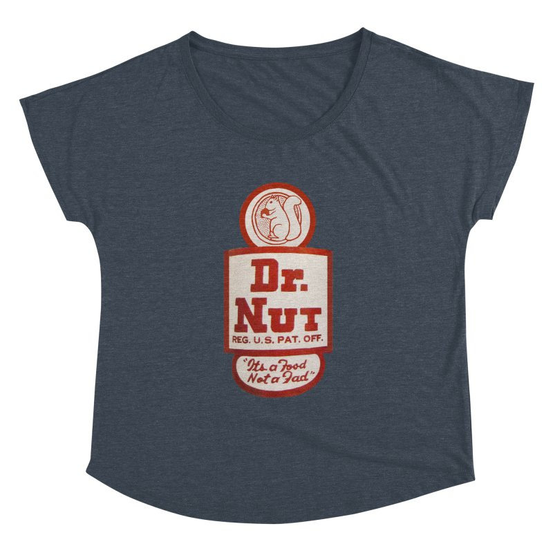Dr. Nut Soda New Orleans Squirrel Confederacy of Dunces World Bottling Company Vintage Soda Shirt Women's Dolman Scoop Neck by Fringe Walkers Shirts n Prints