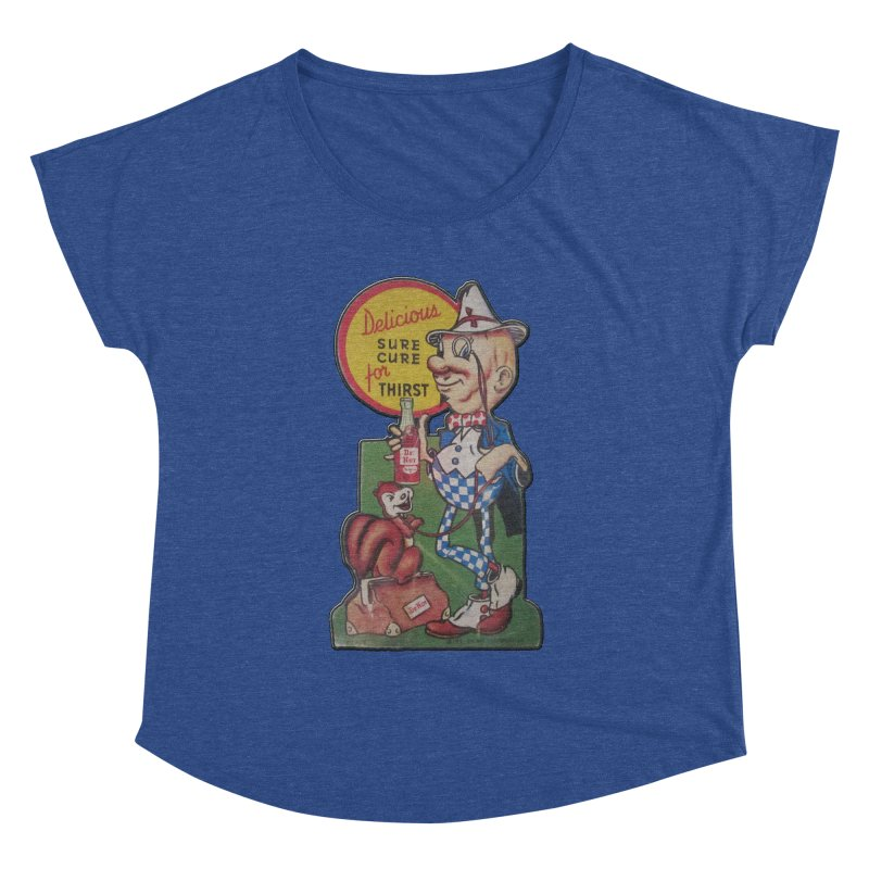 Dr Nut Vintage Soda Ad Squirrel World Bottling Company New Orleans Confederacy of Dunces Shirt Women's Dolman Scoop Neck by Fringe Walkers Shirts n Prints