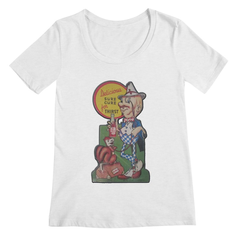 Dr Nut Vintage Soda Ad Squirrel World Bottling Company New Orleans Confederacy of Dunces Shirt Women's Regular Scoop Neck by Fringe Walkers Shirts n Prints