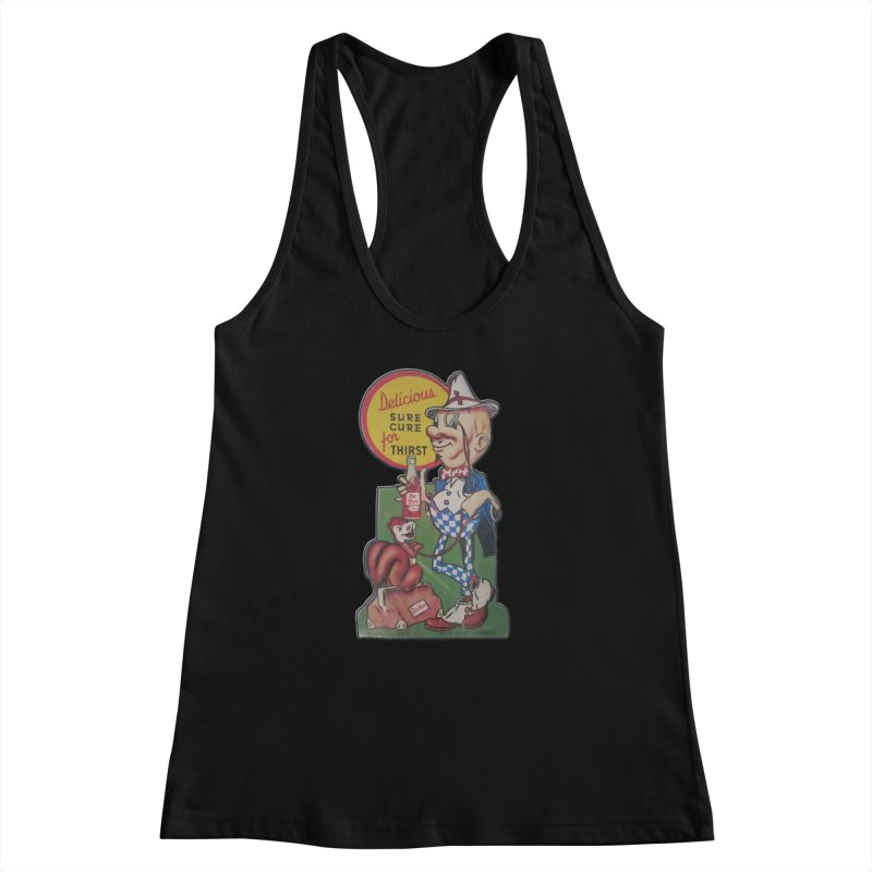 Dr Nut Vintage Soda Ad Squirrel World Bottling Company New Orleans Confederacy of Dunces Shirt Women's Racerback Tank by Fringe Walkers Shirts n Prints