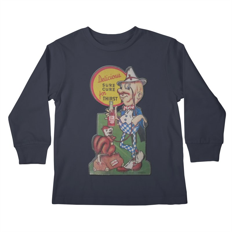 Dr Nut Vintage Soda Ad Squirrel World Bottling Company New Orleans Confederacy of Dunces Shirt Kids Longsleeve T-Shirt by Fringe Walkers Shirts n Prints