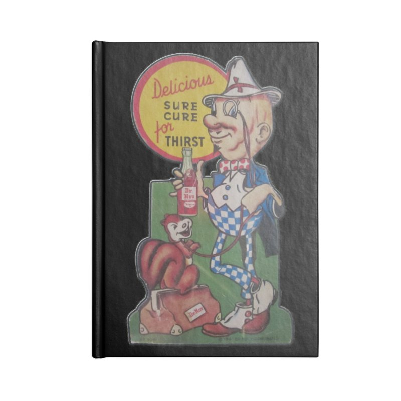 Dr Nut Vintage Soda Ad Squirrel World Bottling Company New Orleans Confederacy of Dunces Shirt Accessories Lined Journal Notebook by Fringe Walkers Shirts n Prints