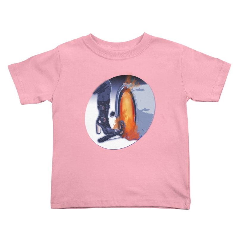 Female Drummers On Fire Spotlight Rock on Girls! Kick Drums Lady Power Drum Female Beat Girl Band Kids Toddler T-Shirt by Fringe Walkers Shirts n Prints