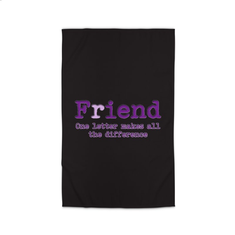 Friend to Fiend, one letter makes all the difference Crappy friends design Bad friend Jerk  Home Rug by Fringe Walkers Shirts n Prints