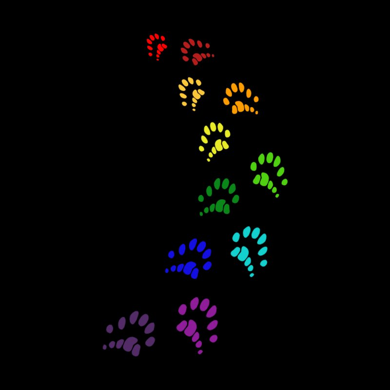 Polly Paws Rainbow Trail Polydactyl Cat Hemingway Paw Prints Multiple Six Toes Feline Pet Accessories Beach Towel by Fringe Walkers Shirts n Prints