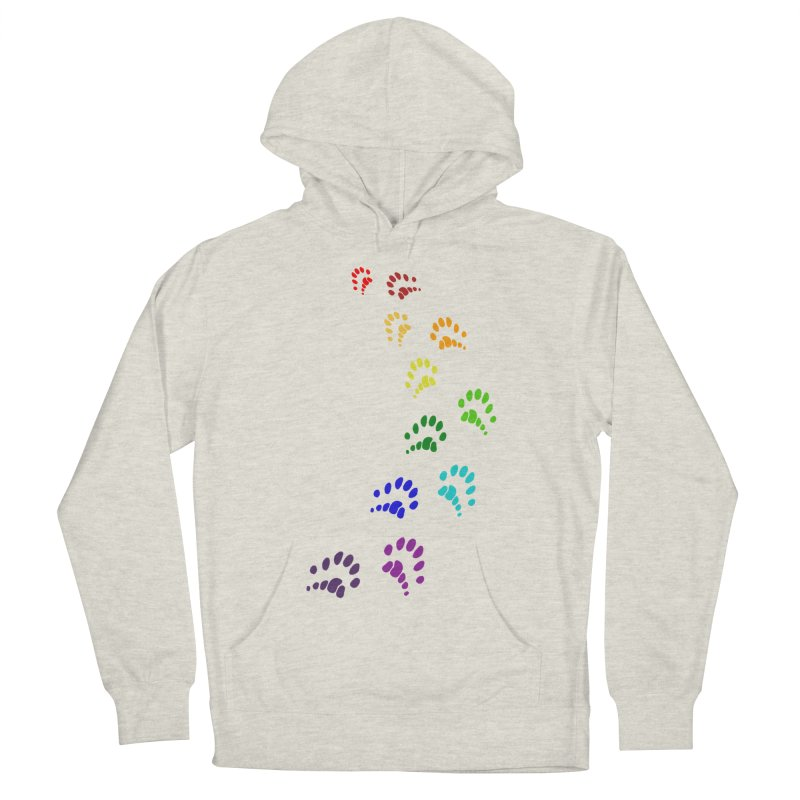 Polly Paws Rainbow Trail Polydactyl Cat Hemingway Paw Prints Multiple Six Toes Feline Pet Women's Pullover Hoody by Fringe Walkers Shirts n Prints
