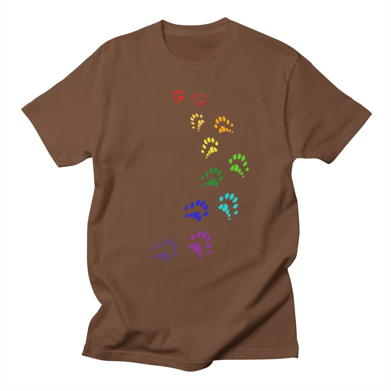 Polly Paws Rainbow Trail Polydactyl Cat Hemingway Paw Prints Multiple Six Toes Feline Pet Women's Unisex T-Shirt by Fringe Walkers Shirts n Prints