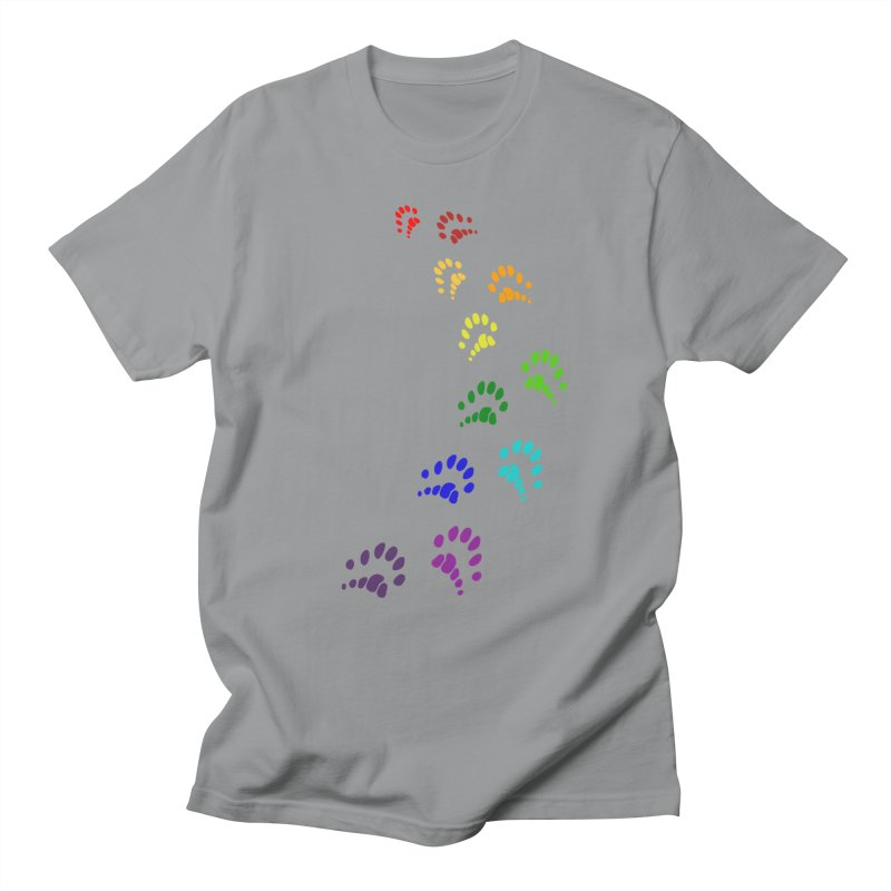 Polly Paws Rainbow Trail Polydactyl Cat Hemingway Paw Prints Multiple Six Toes Feline Pet Women's Regular Unisex T-Shirt by Fringe Walkers Shirts n Prints