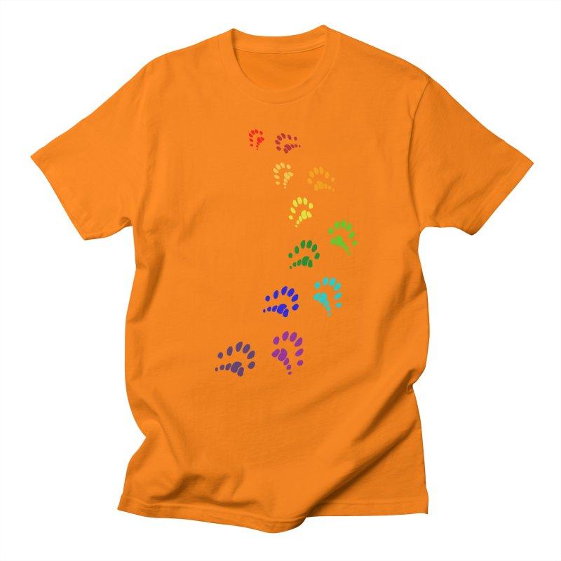 Polly Paws Rainbow Trail Polydactyl Cat Hemingway Paw Prints Multiple Six Toes Feline Pet Women's Regular Unisex T-Shirt by Fringe Walkers Shirts n Prints