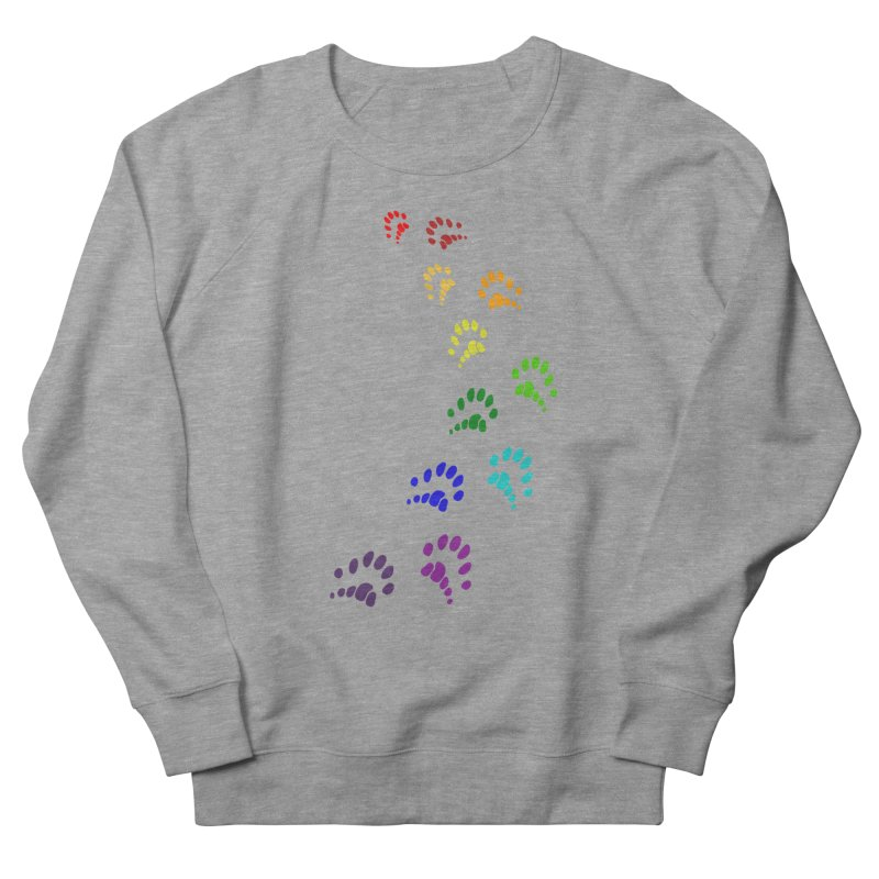 Polly Paws Rainbow Trail Polydactyl Cat Hemingway Paw Prints Multiple Six Toes Feline Pet Women's Sweatshirt by Fringe Walkers Shirts n Prints