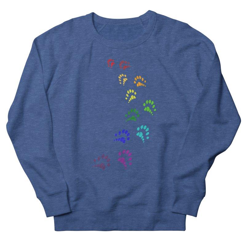 Polly Paws Rainbow Trail Polydactyl Cat Hemingway Paw Prints Multiple Six Toes Feline Pet Men's Sweatshirt by Fringe Walkers Shirts n Prints