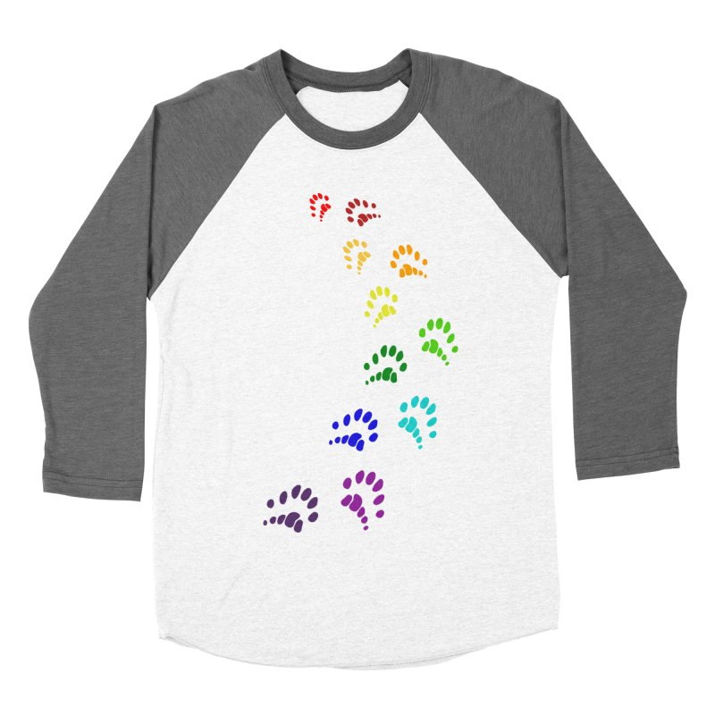 Polly Paws Rainbow Trail Polydactyl Cat Hemingway Paw Prints Multiple Six Toes Feline Pet Women's Longsleeve T-Shirt by Fringe Walkers Shirts n Prints