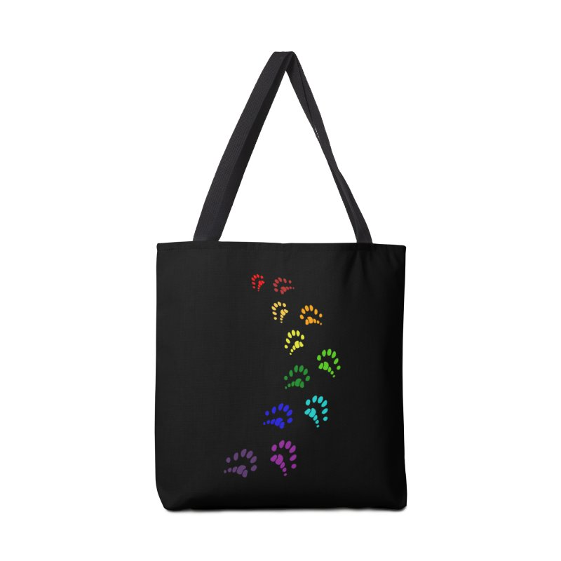 Polly Paws Rainbow Trail Polydactyl Cat Hemingway Paw Prints Multiple Six Toes Feline Pet Accessories Tote Bag Bag by Fringe Walkers Shirts n Prints