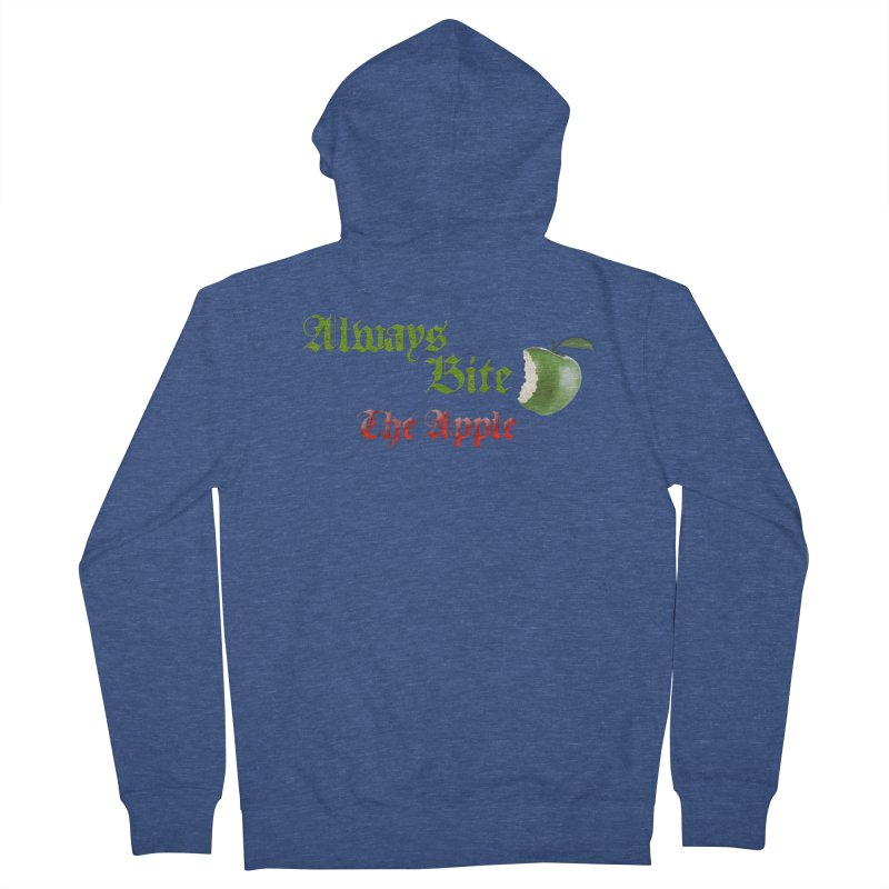 Always Bite The Apple Message of Knowledge & Spirituality Freedom Free Thinkers Awakening Religion Men's Zip-Up Hoody by Fringe Walkers Shirts n Prints