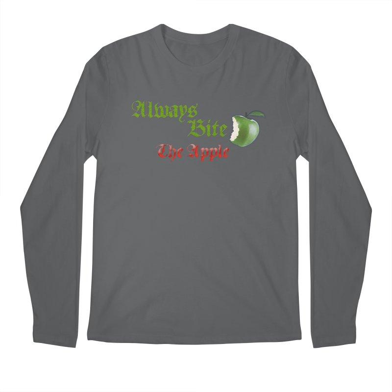 Always Bite The Apple Message of Knowledge & Spirituality Freedom Free Thinkers Awakening Religion Men's Longsleeve T-Shirt by Fringe Walkers Shirts n Prints