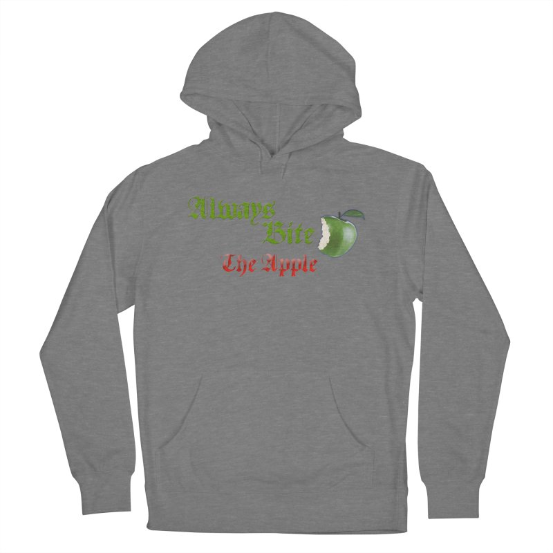 Always Bite The Apple Message of Knowledge & Spirituality Freedom Free Thinkers Awakening Religion Men's Pullover Hoody by Fringe Walkers Shirts n Prints