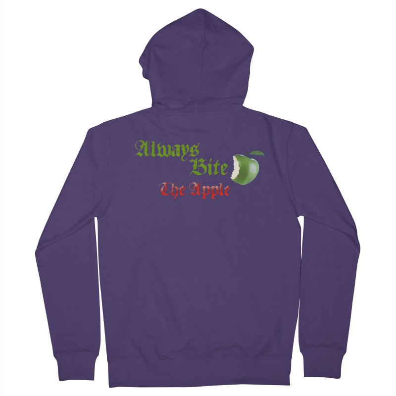 Always Bite The Apple Message of Knowledge & Spirituality Freedom Free Thinkers Awakening Religion Women's Zip-Up Hoody by Fringe Walkers Shirts n Prints