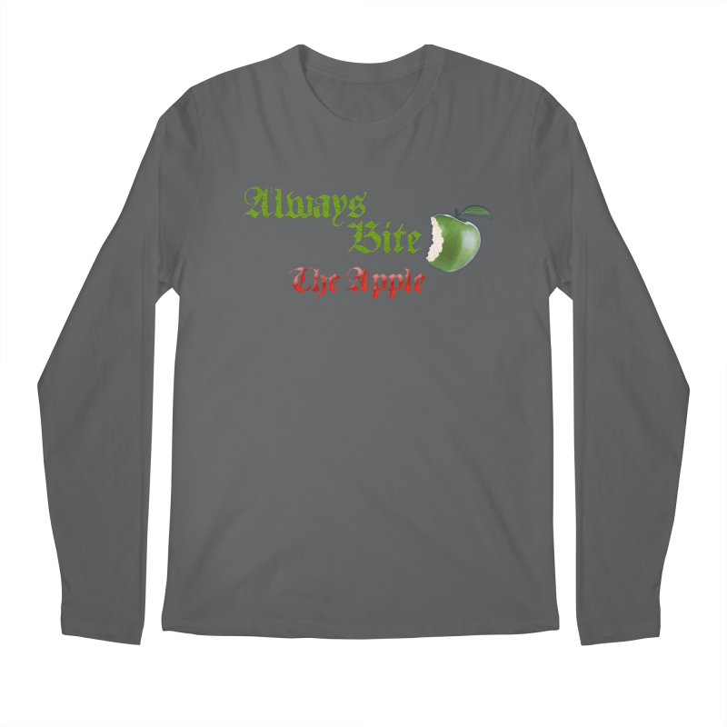 Always Bite The Apple Message of Knowledge & Spirituality Freedom Free Thinkers Awakening Religion Men's Longsleeve T-Shirt by Fringe Walkers Shirts n Prints