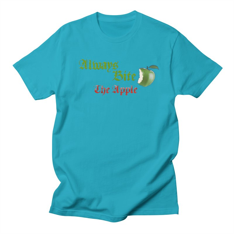 Always Bite The Apple Message of Knowledge & Spirituality Freedom Free Thinkers Awakening Religion Women's Regular Unisex T-Shirt by Fringe Walkers Shirts n Prints
