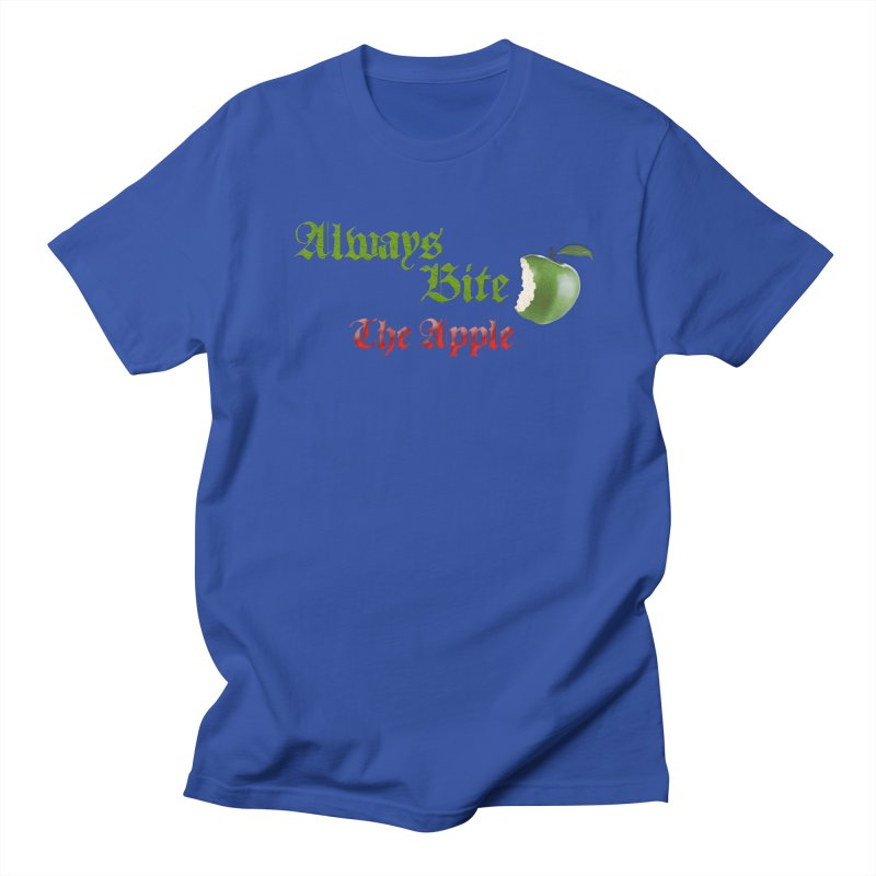 Always Bite The Apple Message of Knowledge & Spirituality Freedom Free Thinkers Awakening Religion Men's Regular T-Shirt by Fringe Walkers Shirts n Prints