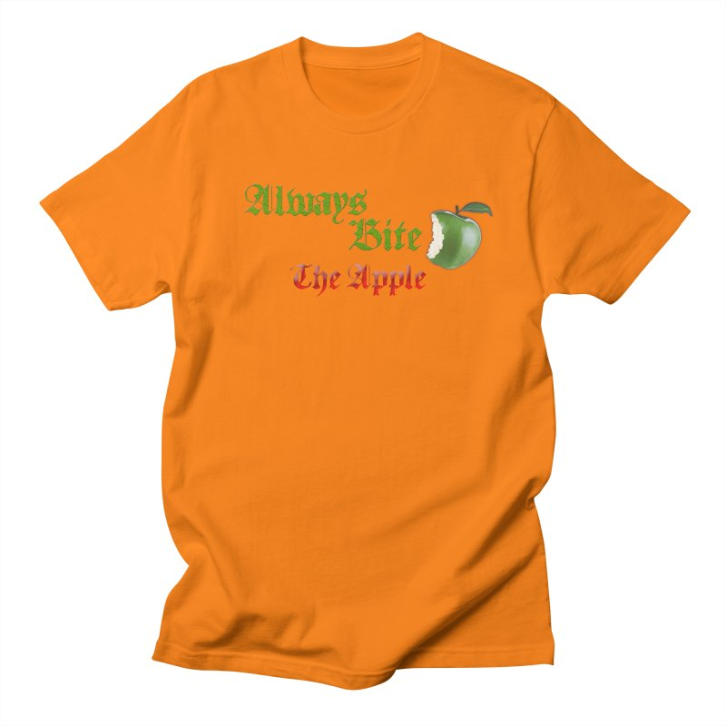Always Bite The Apple Message of Knowledge & Spirituality Freedom Free Thinkers Awakening Religion Men's T-Shirt by Fringe Walkers Shirts n Prints