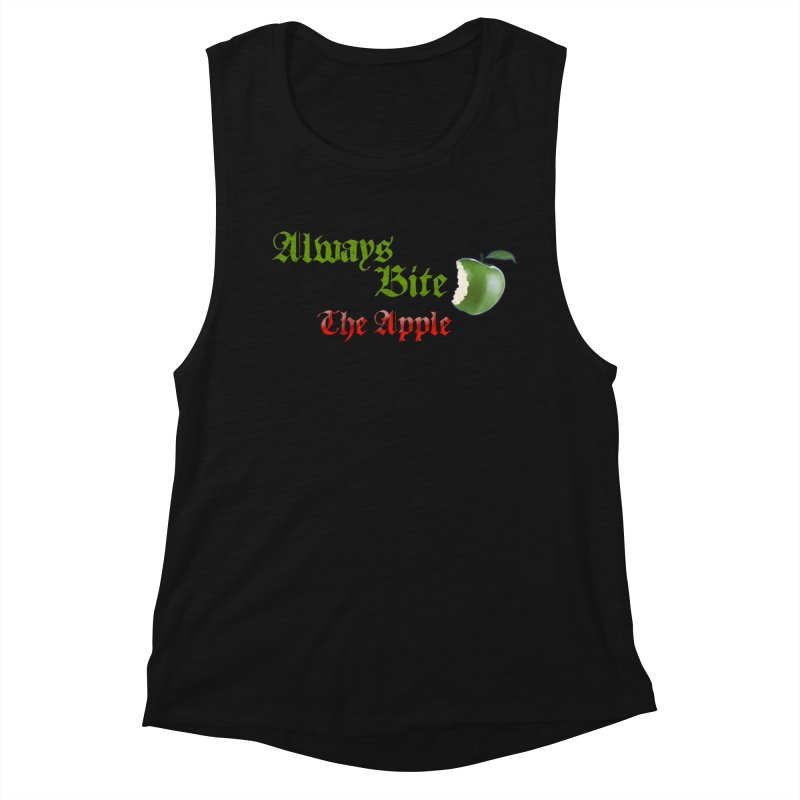 Always Bite The Apple Message of Knowledge & Spirituality Freedom Free Thinkers Awakening Religion Women's Tank by Fringe Walkers Shirts n Prints