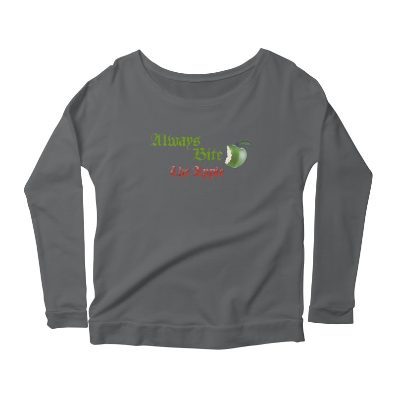 Always Bite The Apple Message of Knowledge & Spirituality Freedom Free Thinkers Awakening Religion Women's Longsleeve T-Shirt by Fringe Walkers Shirts n Prints