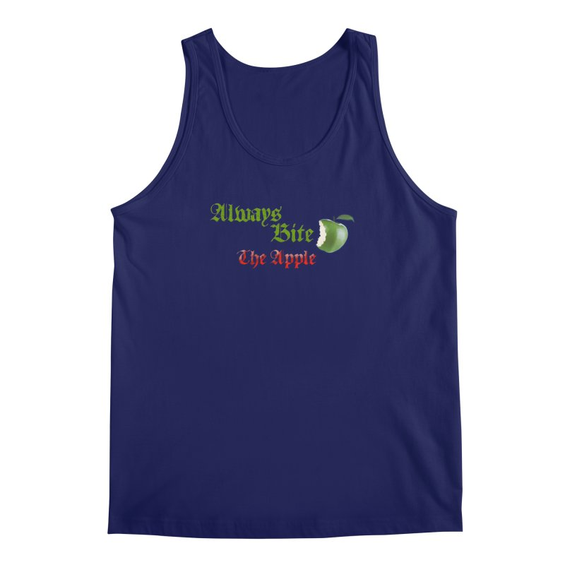 Always Bite The Apple Message of Knowledge & Spirituality Freedom Free Thinkers Awakening Religion Men's Regular Tank by Fringe Walkers Shirts n Prints