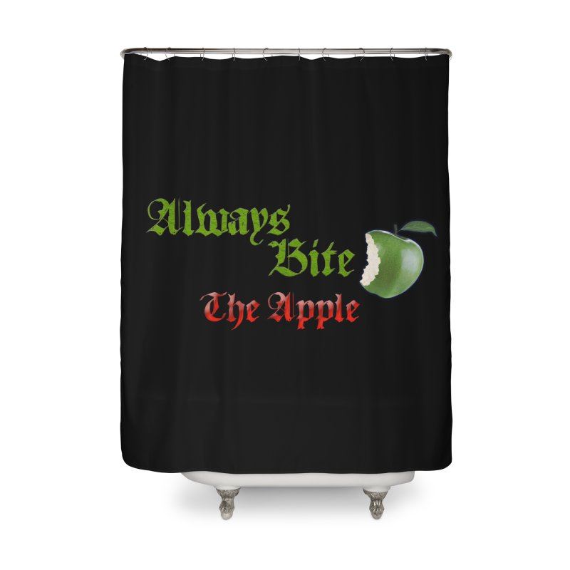 Always Bite The Apple Message of Knowledge & Spirituality Freedom Free Thinkers Awakening Religion Home Shower Curtain by Fringe Walkers Shirts n Prints