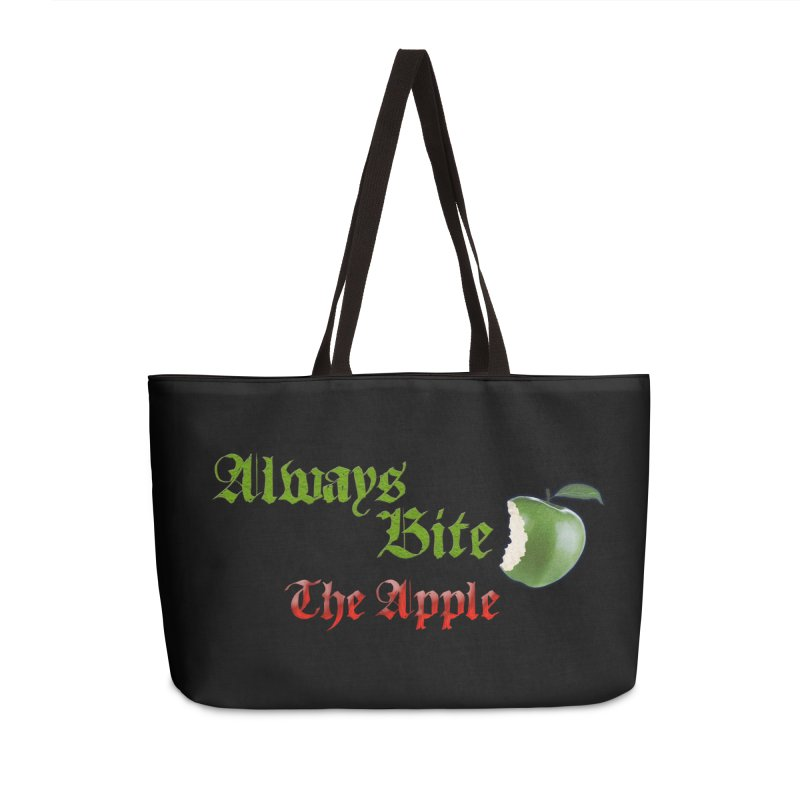 Always Bite The Apple Message of Knowledge & Spirituality Freedom Free Thinkers Awakening Religion Accessories Weekender Bag Bag by Fringe Walkers Shirts n Prints