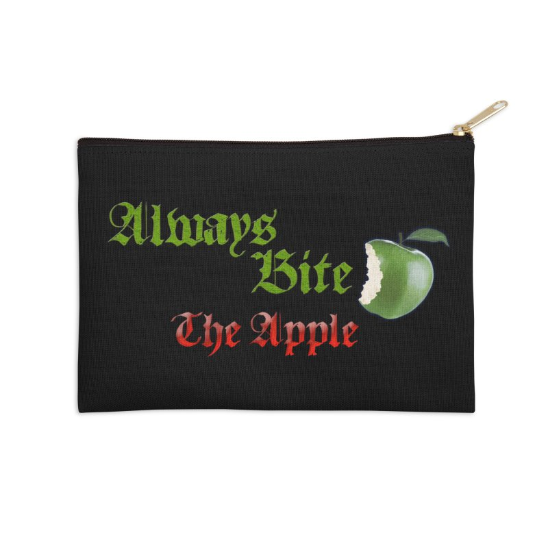 Always Bite The Apple Message of Knowledge & Spirituality Freedom Free Thinkers Awakening Religion Accessories Zip Pouch by Fringe Walkers Shirts n Prints