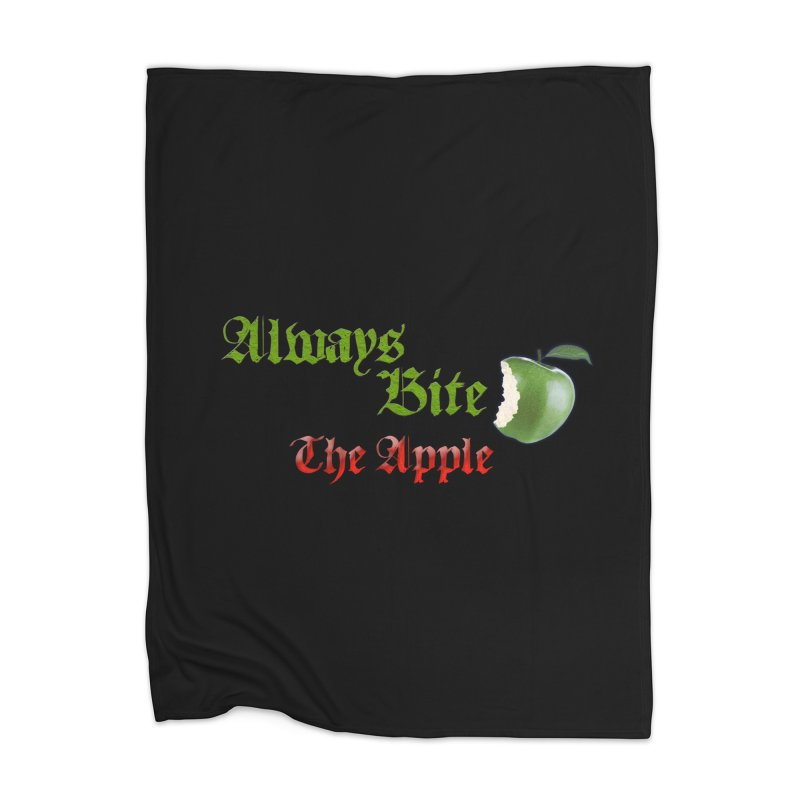 Always Bite The Apple Message of Knowledge & Spirituality Freedom Free Thinkers Awakening Religion Home Blanket by Fringe Walkers Shirts n Prints