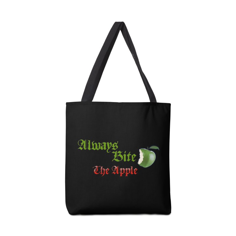 Always Bite The Apple Message of Knowledge & Spirituality Freedom Free Thinkers Awakening Religion Accessories Tote Bag Bag by Fringe Walkers Shirts n Prints