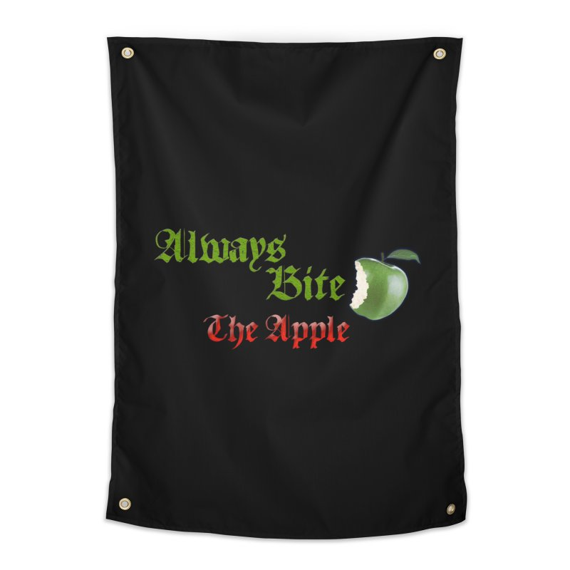 Always Bite The Apple Message of Knowledge & Spirituality Freedom Free Thinkers Awakening Religion Home Tapestry by Fringe Walkers Shirts n Prints