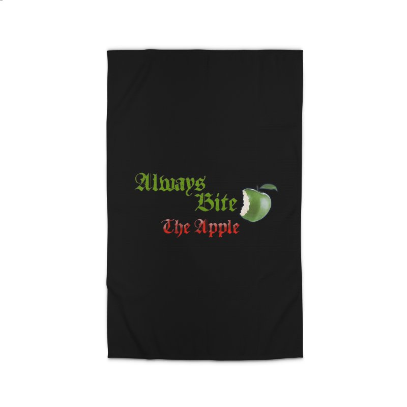 Always Bite The Apple Message of Knowledge & Spirituality Freedom Free Thinkers Awakening Religion Home Rug by Fringe Walkers Shirts n Prints