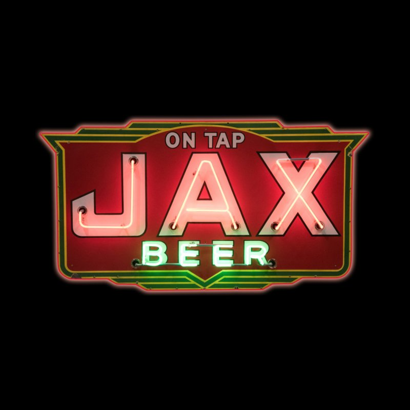 Jax Beer on Tap Vintage Neon Sign Jackson Brewery New Orleans Brewerania Women's Longsleeve T-Shirt by Fringe Walkers Shirts n Prints