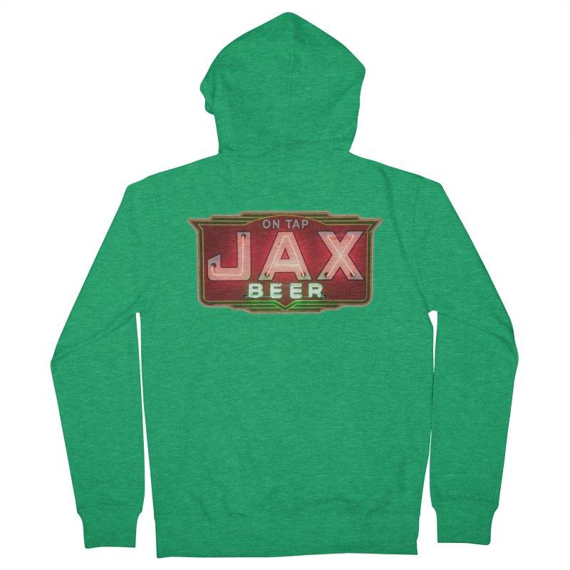 Jax Beer on Tap Vintage Neon Sign Jackson Brewery New Orleans Brewerania Women's Zip-Up Hoody by Fringe Walkers Shirts n Prints