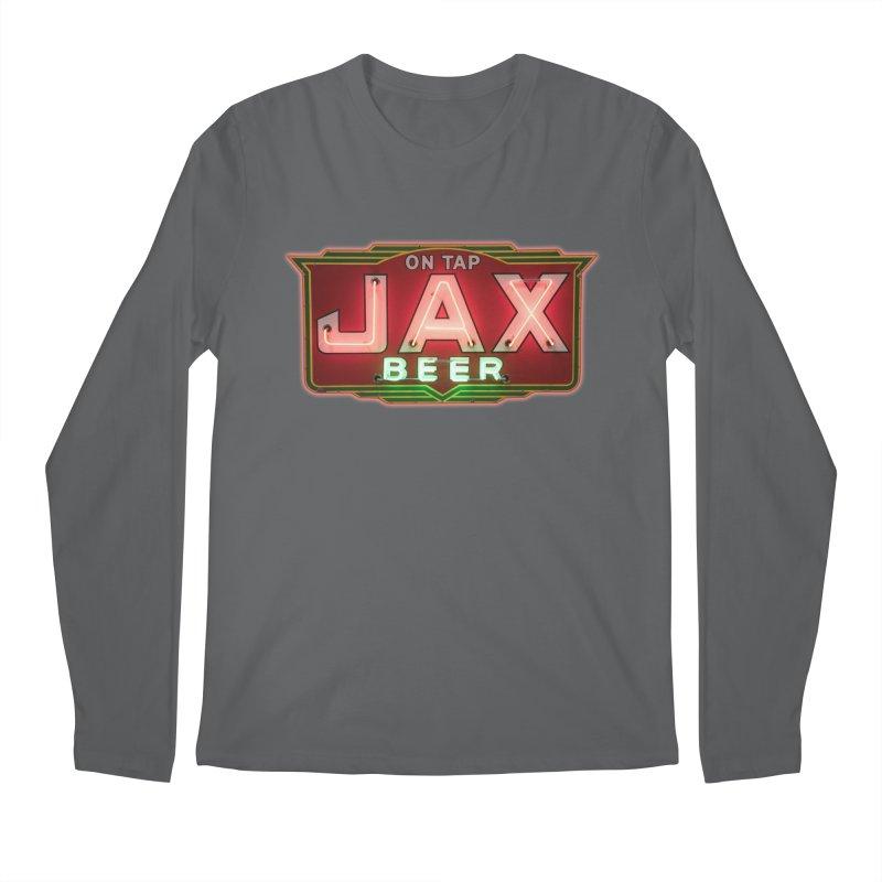 Jax Beer on Tap Vintage Neon Sign Jackson Brewery New Orleans Brewerania Men's Longsleeve T-Shirt by Fringe Walkers Shirts n Prints