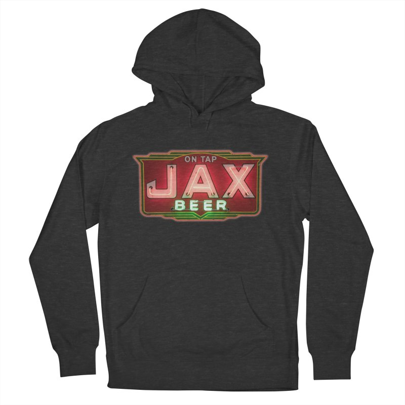 Jax Beer on Tap Vintage Neon Sign Jackson Brewery New Orleans Brewerania Women's French Terry Pullover Hoody by Fringe Walkers Shirts n Prints